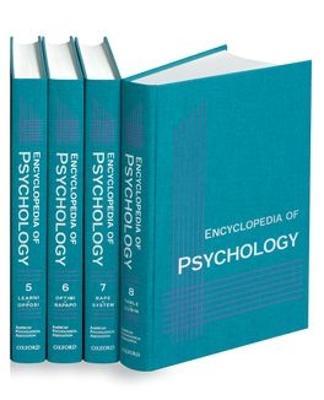 Encyclopedia of Psychology by Alan E. Kazdin
