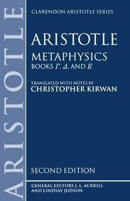 Metaphysics: Books Gamma, Delta, and Epsilon Metaphysics: Books gamma, delta, and epsilon Gamma, Delta, Epsilon Books 4-6 by Aristotle