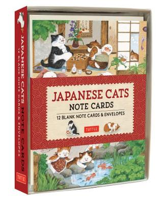 Japanese Cats Note Cards: 12 Blank Note Cards and Envelopes by Tuttle Editors