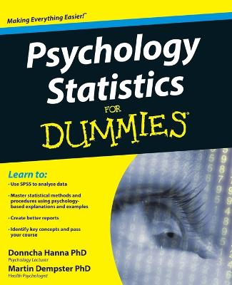 Psychology Statistics For Dummies by Donncha Hanna