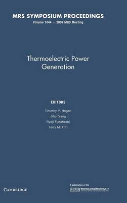 Thermoelectric Power Generation: Volume 1044 book