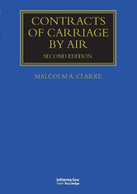 Contracts of Carriage by Air book