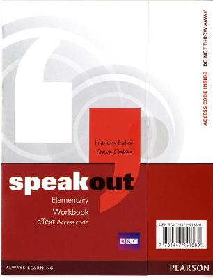 Speakout Elementary Workbook eText Access Card by Frances Eales