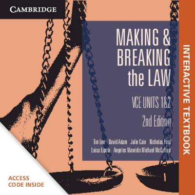 Cambridge Making and Breaking the Law VCE Units 1&2 Digital (Card) book