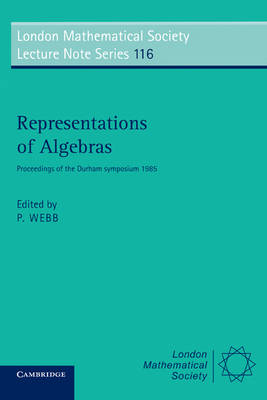 Representations of Algebras book