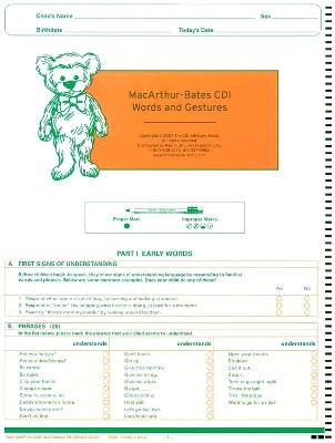 MacArthur Communicative Development Inventories (CDI) by Larry Fenson