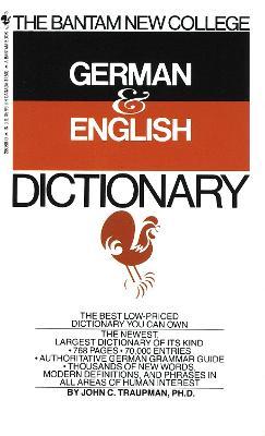 Bantam German/English Dictionary book