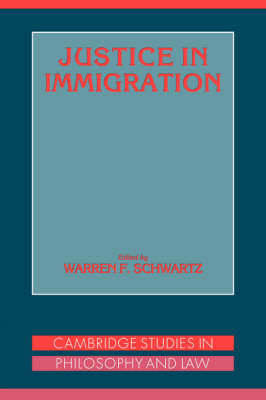 Justice in Immigration book
