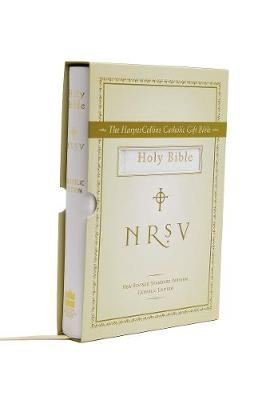 NRSV HarperCollins Catholic Gift Bible - white colour by Harper Bibles