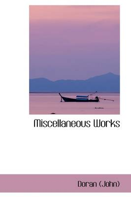 Miscellaneous Works book