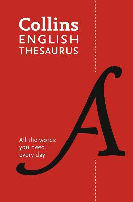 Collins English Thesaurus Paperback edition by Collins Dictionaries