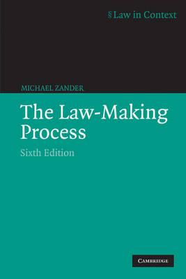 Law-Making Process by Professor Michael Zander