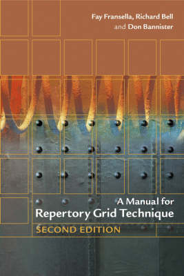 Manual for Repertory Grid Technique book