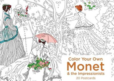 Color Your Own Monet and the Impressionists 20 Postcards book
