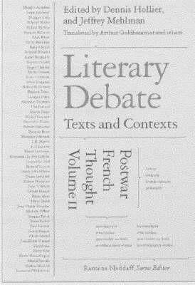 Literary Debate by Denis Hollier