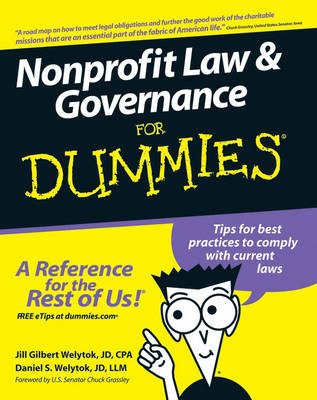 Nonprofit Law and Governance For Dummies by Jill Gilbert Welytok