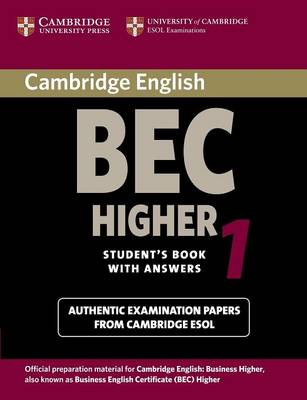 Cambridge BEC Higher 1 by University of Cambridge Local Examinations Syndicate