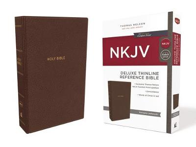 NKJV Deluxe Thinline Reference Bible Red Letter Edition [Brown] by Thomas Nelson