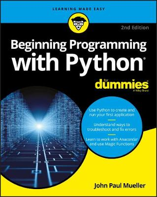 Beginning Programming with Python For Dummies book