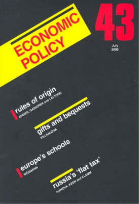 Economic Policy: 43 by Georges De Menil