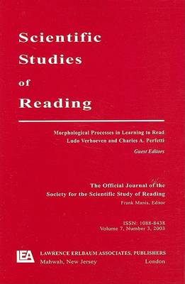 Morphological Processes in Learning to Read by Ludo Verhoeven