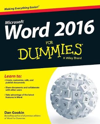 Word 2016 for Dummies book