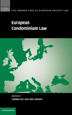 European Condominium Law by Cornelius Van Der Merwe