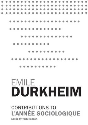 Contributions to L'Annee Sociologique by Emile Durkheim