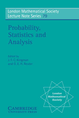 Probability, Statistics and Analysis by J. F. C. Kingman