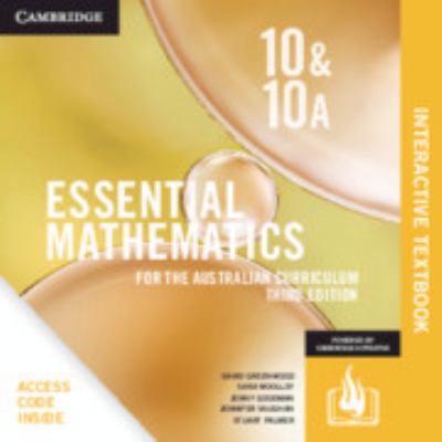 Essential Mathematics for the Australian Curriculum Year 10 Digital Card by David Greenwood
