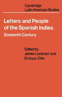 Letters and People of the Spanish Indies book