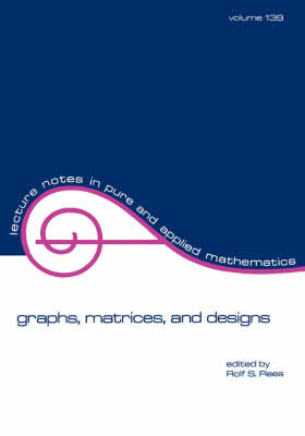 Graphs, Matrices, and Designs book