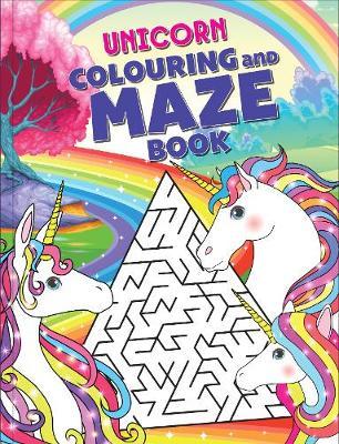 Unicorn Colouring and Maze Book book