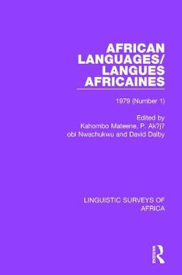 African Languages/Langues Africaines by Kahombo Mateene