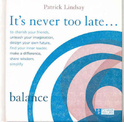 Balance: It's Never Too Late book