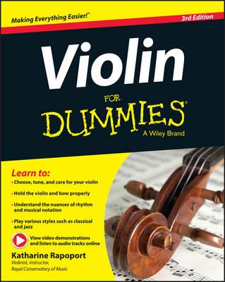 Violin for Dummies by Katharine Rapoport