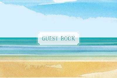Guest Book Coastal Edition: Featuring Beautiful Coastal Illustrations by Editors, Rock Point