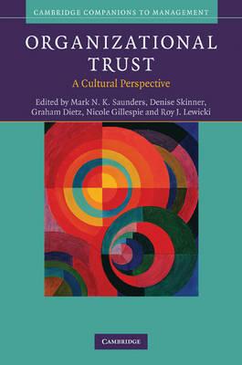 Organizational Trust by Mark N. K. Saunders