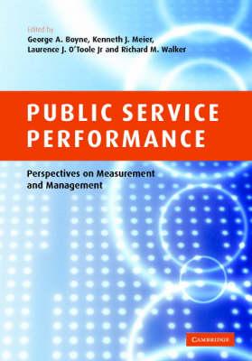 Public Service Performance by G. A. Boyne