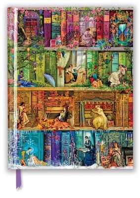 Aimee Stewart: A Stitch in Time Bookshelf (Blank Sketch Book) by Flame Tree Studio