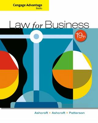 Cengage Advantage Books: Law for Business by Martha Patterson