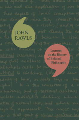Lectures on the History of Political Philosophy by John Rawls