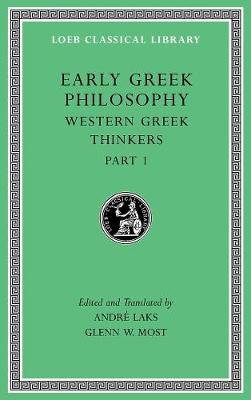 Early Greek Philosophy, Volume IV: Western Greek Thinkers, Part 1 book
