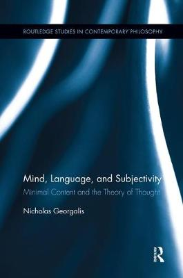 Mind, Language and Subjectivity book