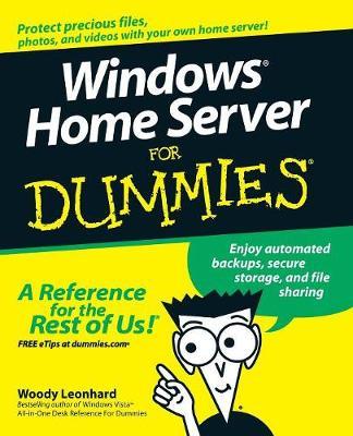 Windows Home Server For Dummies book