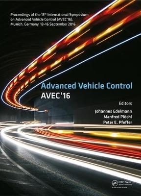 Advanced Vehicle Control book