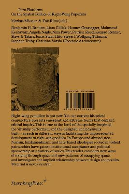 Para-Platforms - On the Spatial Politics of Right-Wing Populism book