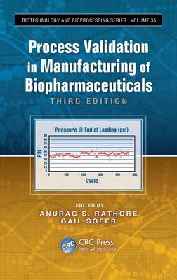 Process Validation in Manufacturing of Biopharmaceuticals by Anurag S. Rathore