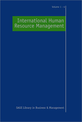 International Human Resource Management by Professor Paul R. Sparrow