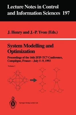 System Modelling and Optimization by Jacques Henry
